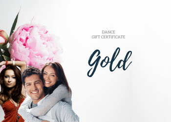 Gold Dance Gift Certificates - 5 Private Dance Lessons(1)